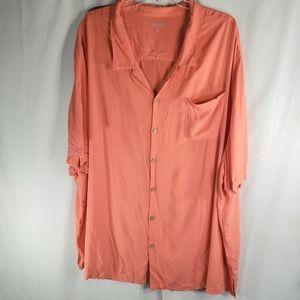 KS Island Orange Shirt Size 6 XL